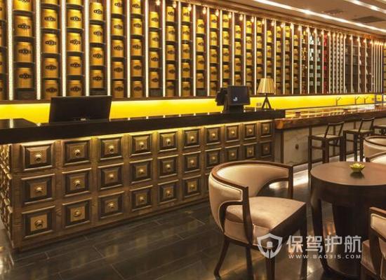 古典风格餐厅收银台装修效果图