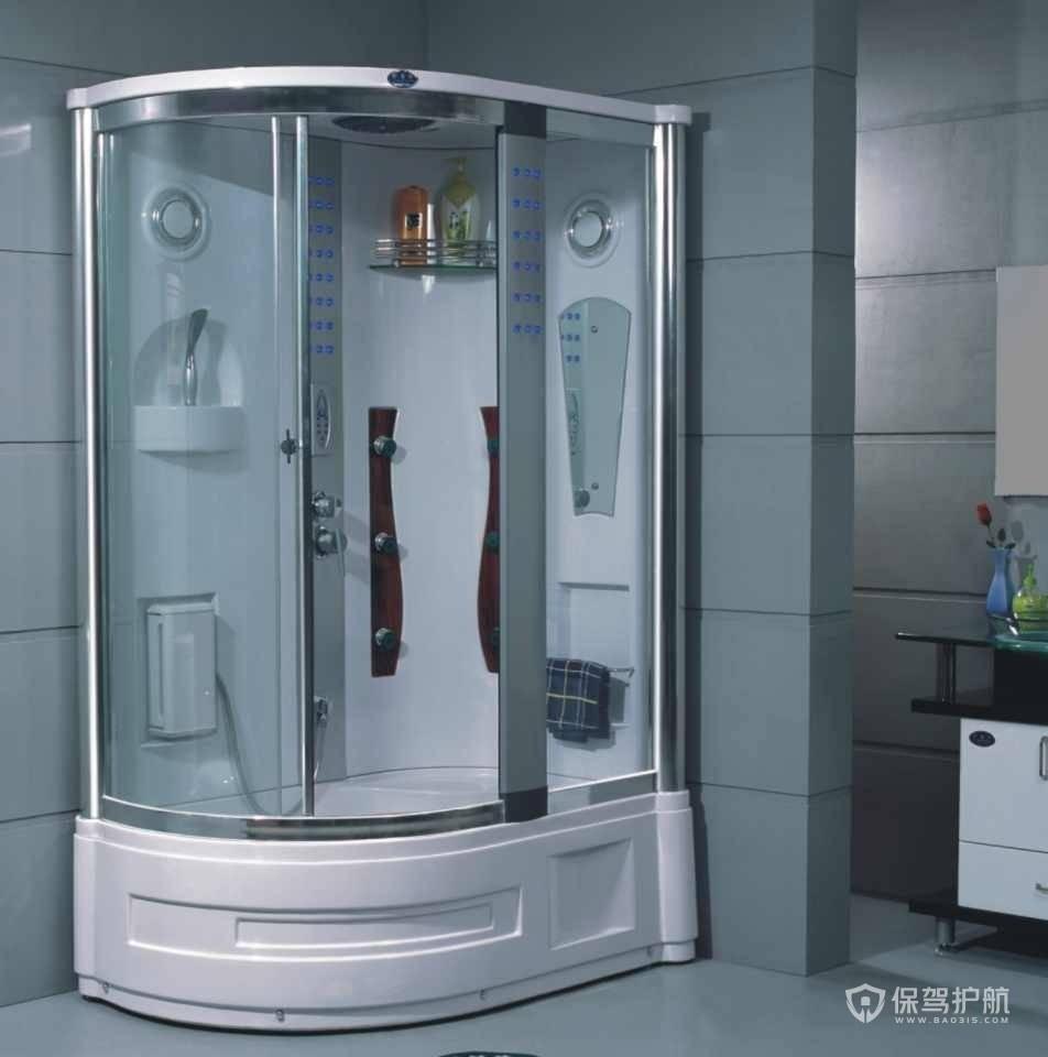 卫生间淋浴房安装效果图-保驾护航装修网