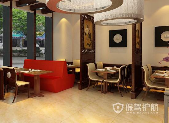 中式风格餐厅屏风装修效果图