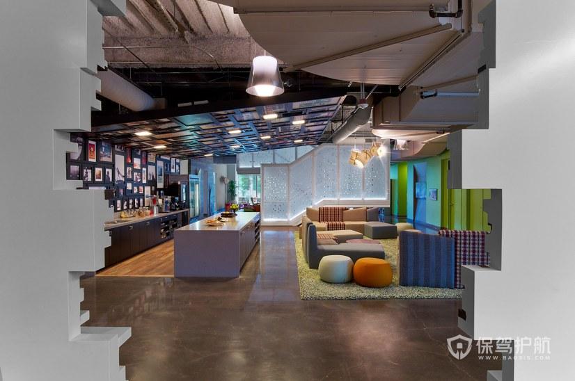 创意混搭办公室茶水接待区装修效果图