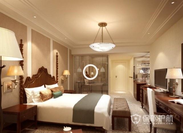 法式温馨简洁酒店房间装修效果图