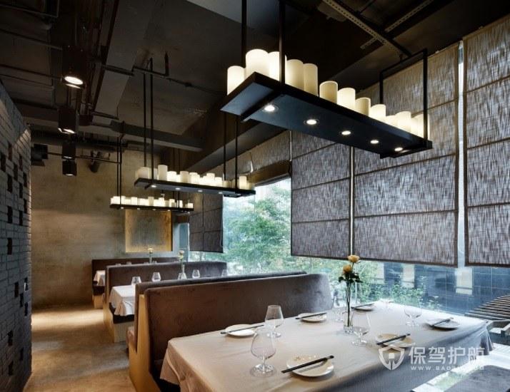 美式复古简约餐厅装修效果图