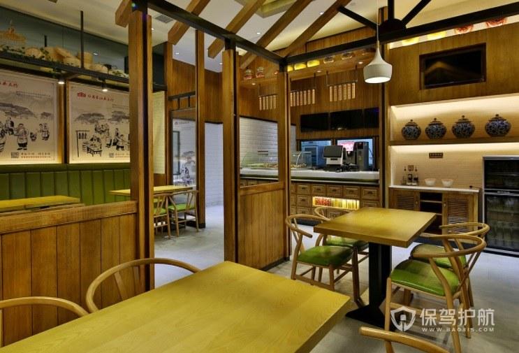 日式田园风餐厅装修效果图