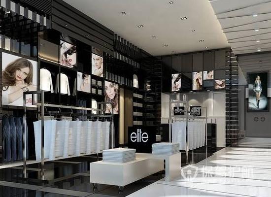 欧式风格女装店背景墙装修效果图
