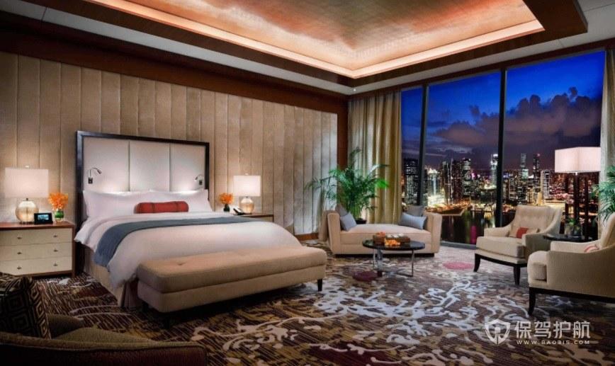 五星级豪华简欧风酒店房间装修效果图