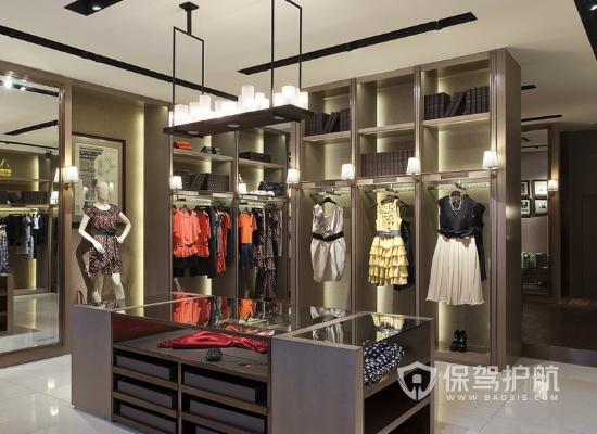 欧式风格女装店吊顶设计效果图
