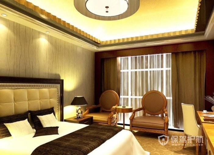 经典欧式酒店房间装修效果图