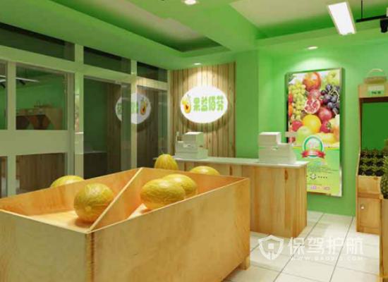 简约风格水果店背景墙装修效果图