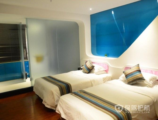 東南亞簡約風酒店房間裝修效果圖