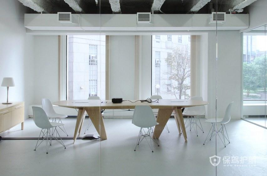现代工业风格办公会议室装修效果图