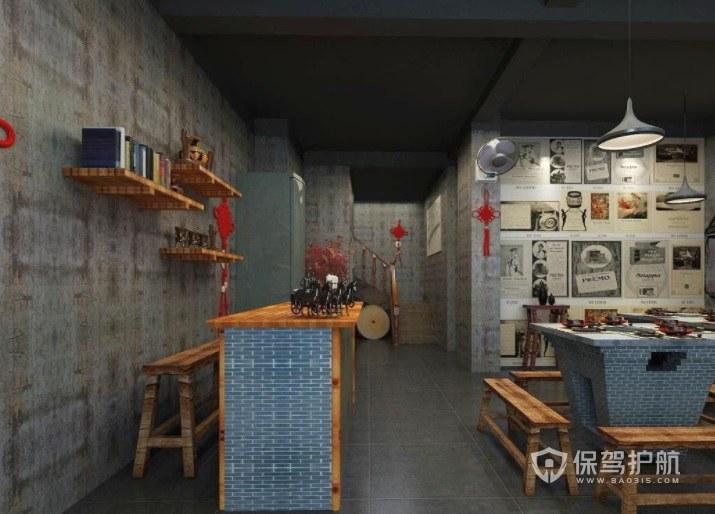 创意中式简约小餐厅装修效果图