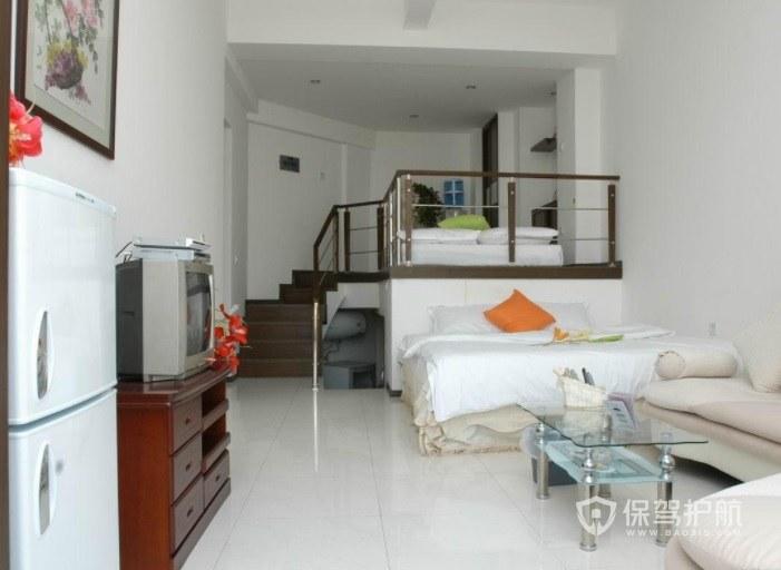 酒店简约风复式房间装修效果图