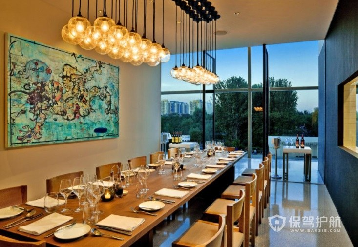 美式创意休闲餐厅装修效果图
