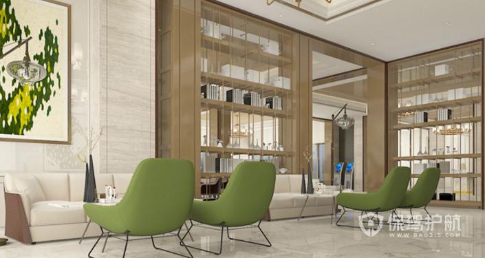 现代时尚办公室接待区装修效果图