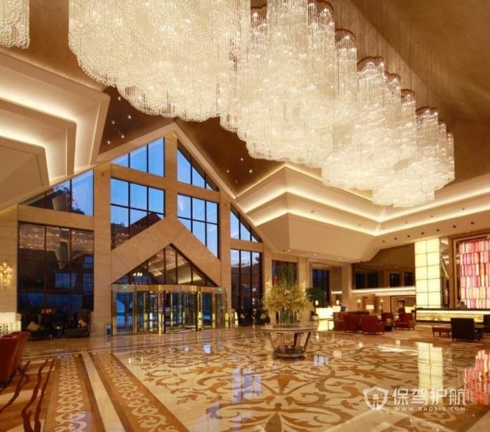歐式豪華酒店大堂裝修效果圖