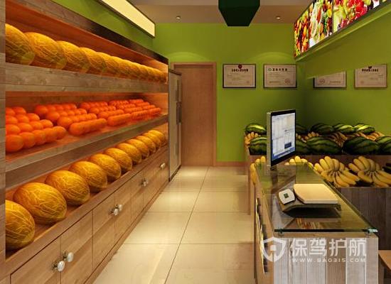 现代风格水果店收银台装修效果图