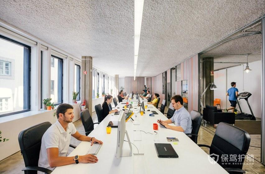 欧美风格开放式办公室办公区装修效果图