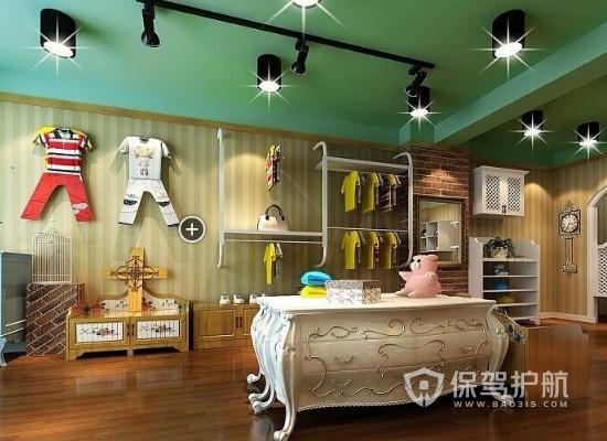 欧式风格童装店灯光设计效果图