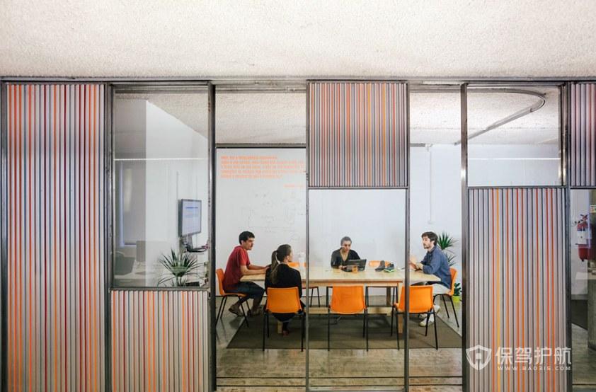 现代简约风格办公讨论室装修效果图