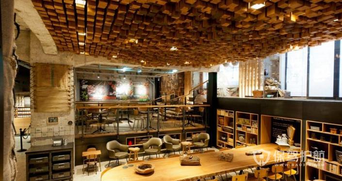 咖啡厅吊顶效果图,咖啡厅吊顶装修攻略