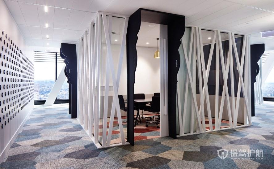 现代简约风格办公室接待区装修效果图