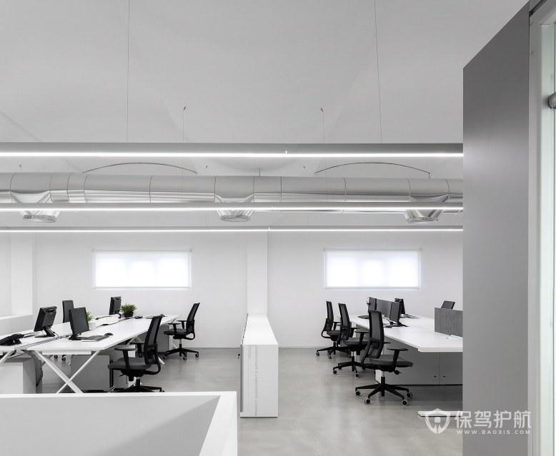 現代簡約風格辦公室辦公區裝修效果圖…