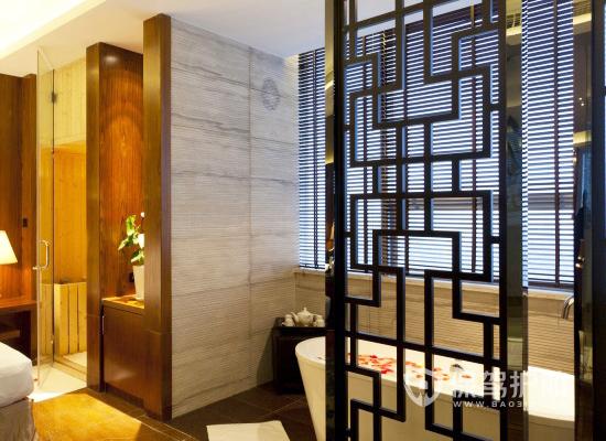 奢華中式風格酒店房間浴室裝修效果圖…