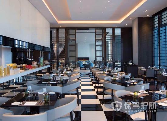 现代摩登高端酒店餐厅装修效果图