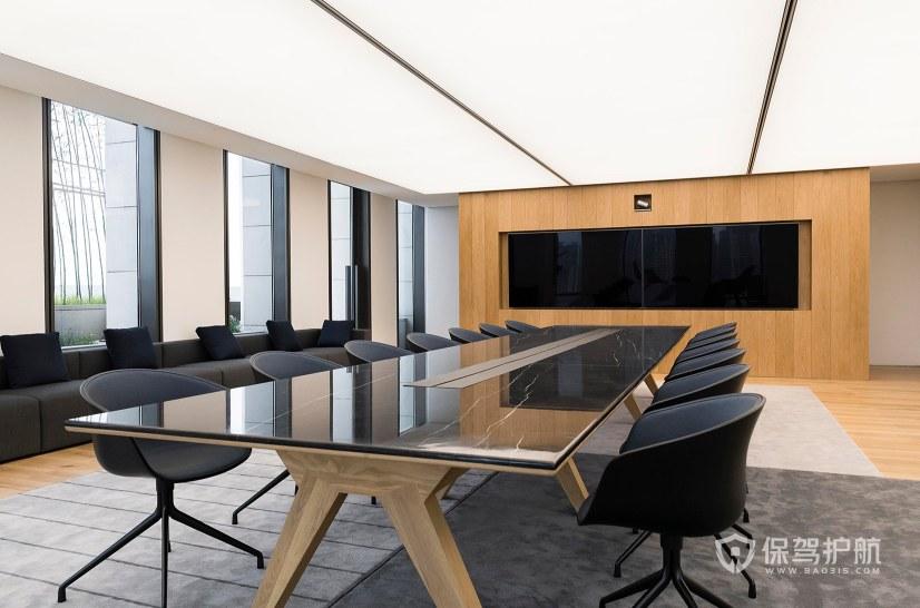 高档办公写字楼会议室装修效果图