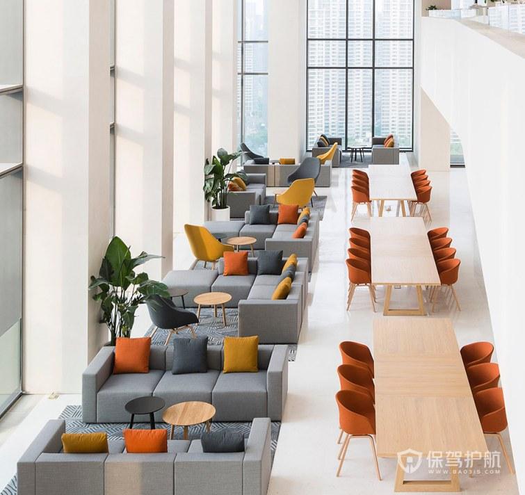 后现代风格办公室接待区装修效果图