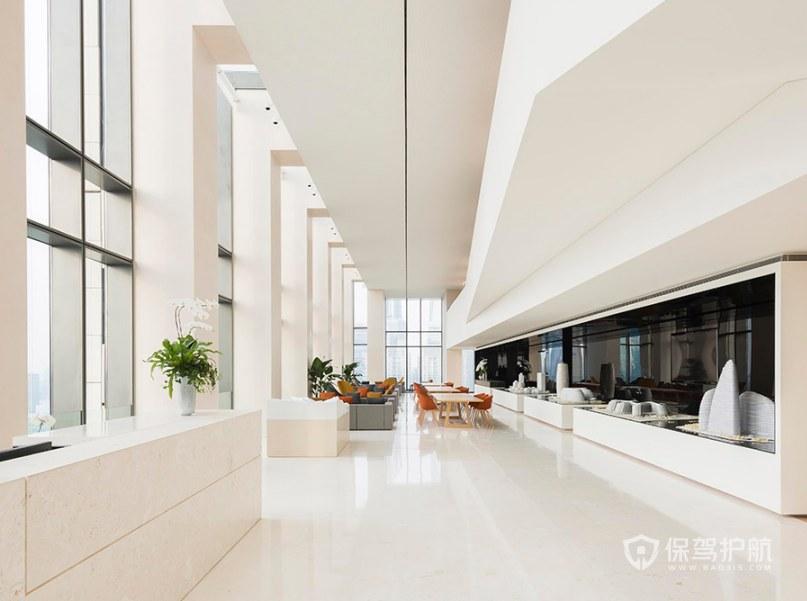 现代轻奢风办公室接待区装修效果图