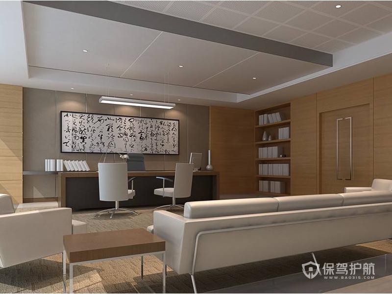 现代中式领导办公室接待区装修效果图