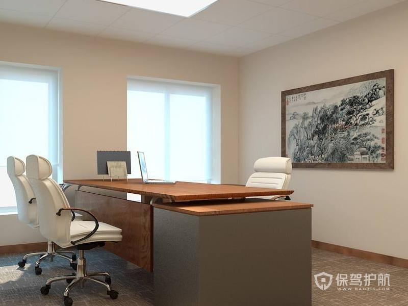 简洁大方领导办公室墙面装修效果图