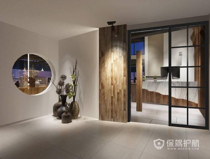 中式风格办公室门厅装修效果图
