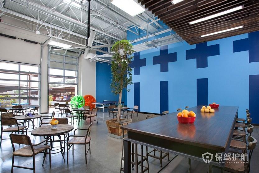 现代简约风格办公室就餐区装修效果图