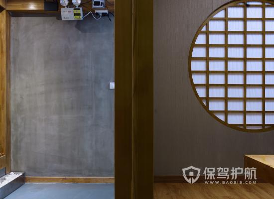 日式风格火锅店墙面设计效果图