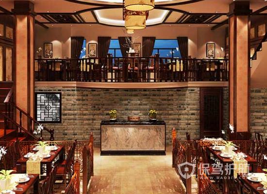 中式风格特色火锅店墙面装修效果图