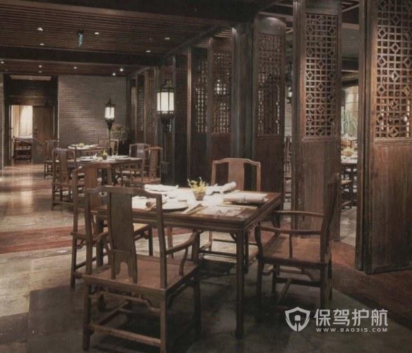 中式仿古風餐廳裝修效果圖