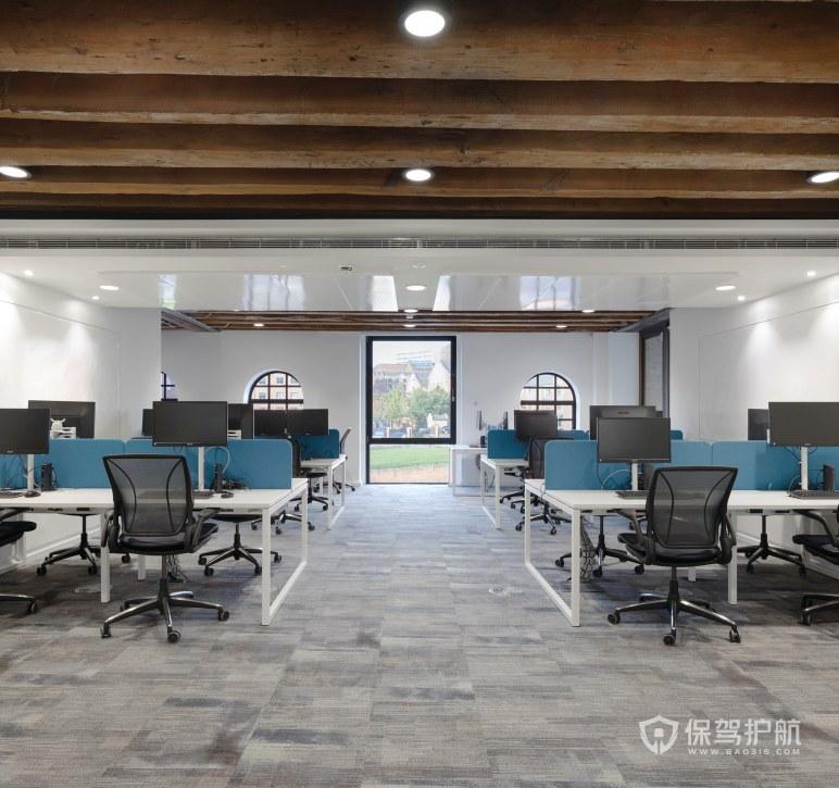 创意美式办公室办公区装修效果图