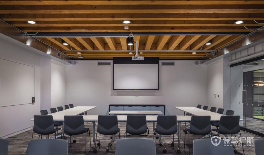 新媒体办公会议室装修效果图