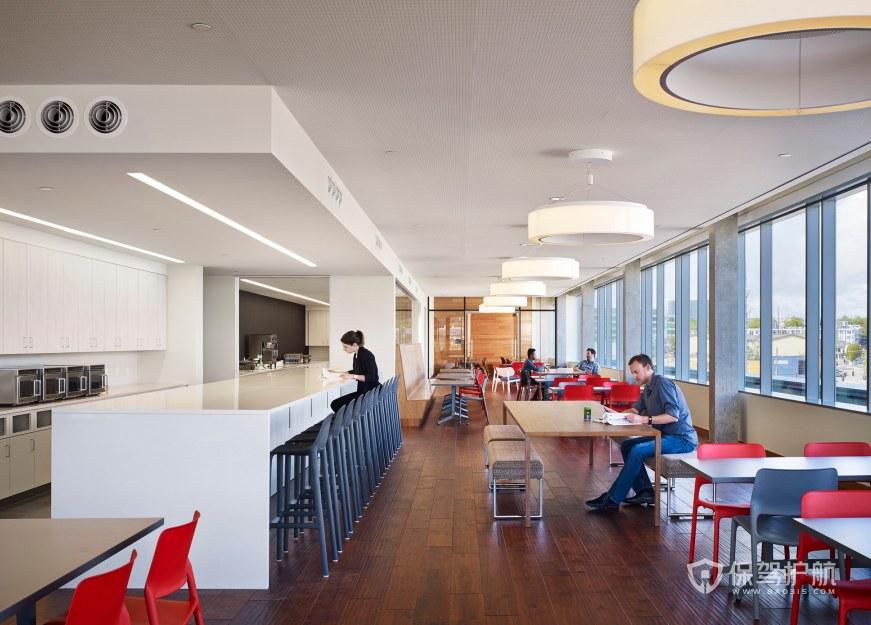 现代美式风格办公室茶水区装修效果图