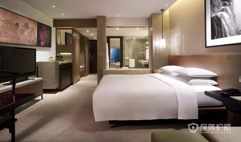 法式轻奢古典风酒店房间装修效果图