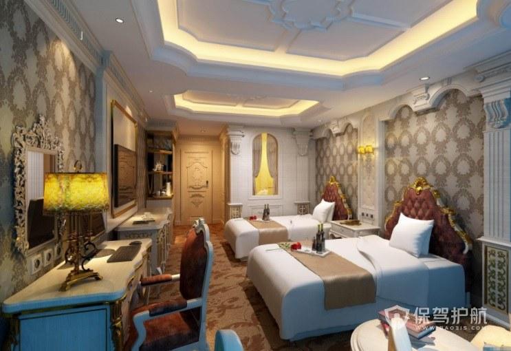 哥特式古典风酒店房间装修效果图