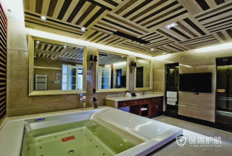 意大利创意风五星级酒店浴室装修效果图