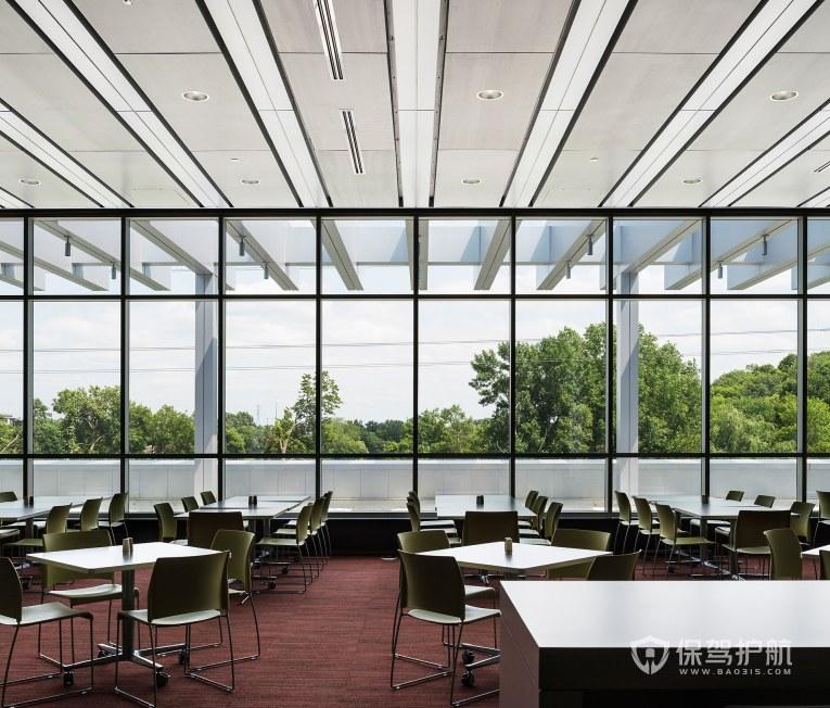 现代美式风格办公室就餐区装修效果图