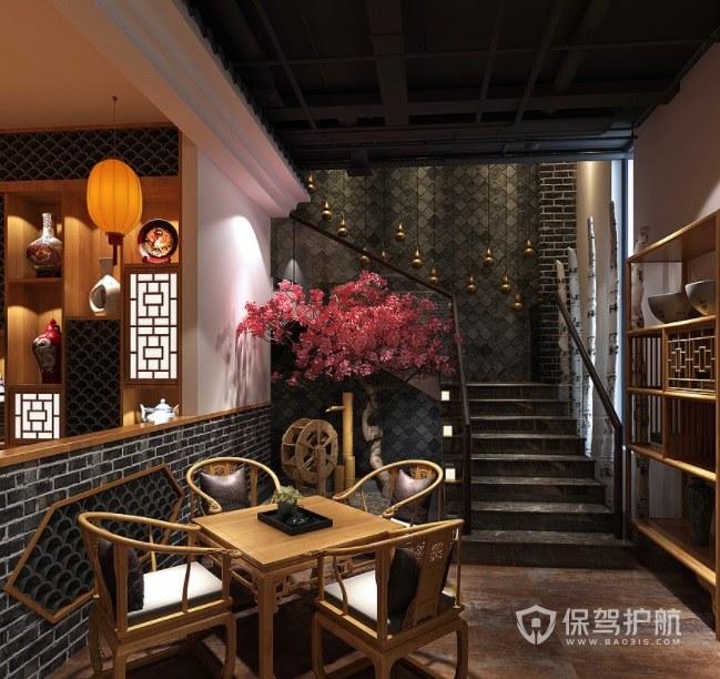 中式古典田园风餐厅装修效果图