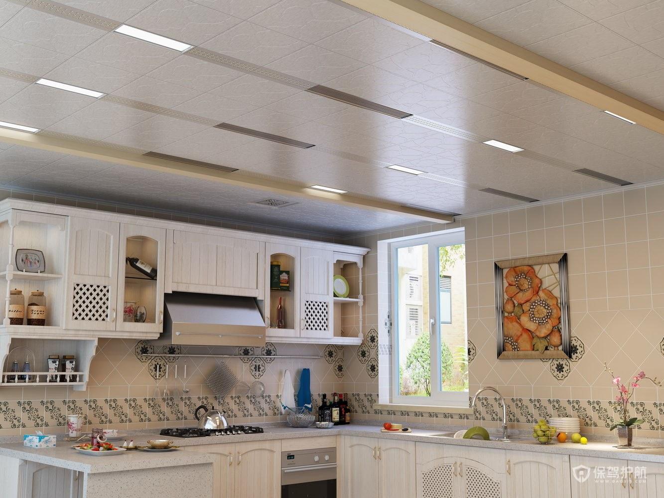 厨房集成吊顶装修效果图-保驾护航装修网