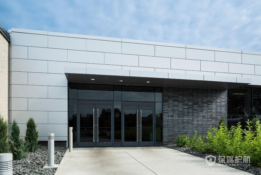现代美式风格办公室门口装修效果图