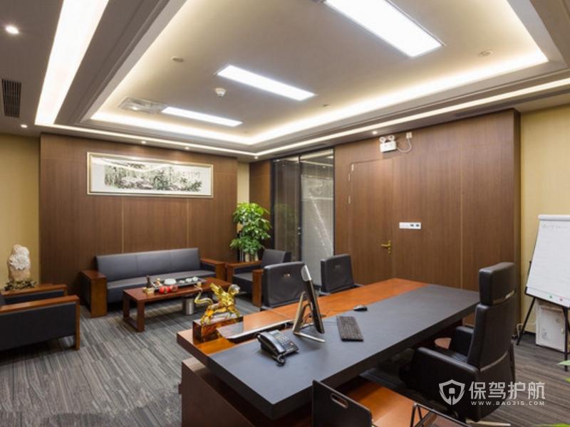 中式领导办公室装修效果图