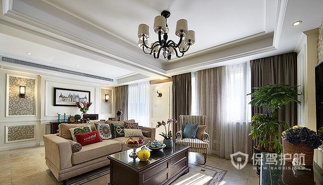 简约美式风格客厅装修效果图片